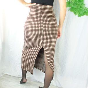 SEXY Vintage Cozy Maxi Skirt Highwaist Red/White